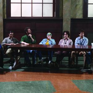 Still of Danny Masterson, Thomas Ian Nicholas, Jamie Elman, Andy Hirsch, Orlando Jones, David Julian Hirsh and Aaron Abrams in The Chicago 8 (2011)