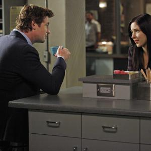 Still of Simon Baker and Haley Ramm in Mentalistas (2008)
