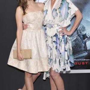 Sarah Wayne Callies and Alycia Debnam-Carey at event of Into the Storm (2014)