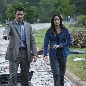 Still of Richard Armitage and Sarah Wayne Callies in Into the Storm (2014)