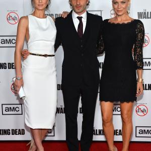 Laurie Holden, Andrew Lincoln and Sarah Wayne Callies at event of Vaiksciojantys negyveliai (2010)