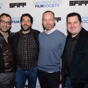 Marc Smolowitz Nickolas Rossi Jeremiah Gurzi and Kevin Moyer attend the world premiere of Heaven Adores You at the San Francisco International Film Festival