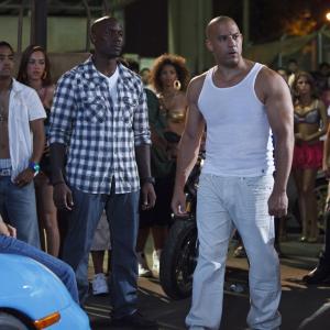 Still of Vin Diesel Tyrese Gibson and Paul Walker in Greiti ir isiute 5 2011