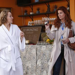 Still of Debra Messing and Geneva Carr in The Mysteries of Laura 2014