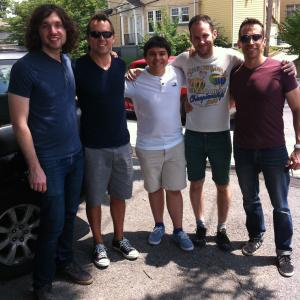 Jonah Bryson middle with members of Taylor Swifts band Matt Billingslea and Amos Heller in Nashville after a recording session at QUAD Studio recording location of Jackson 5 Elvis Neil Youngetc for the song A Sweet Spot in Time