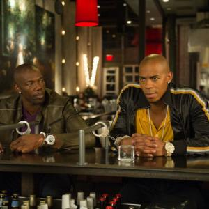 Still of Terrell Owens and Mehcad Brooks in Necessary Roughness (2011)
