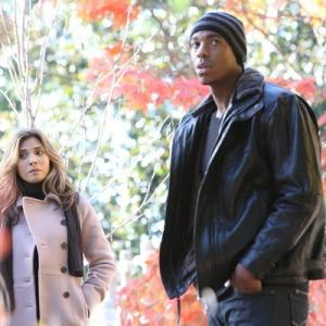 Still of Callie Thorne and Mehcad Brooks in Necessary Roughness (2011)