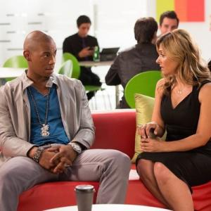 Still of Callie Thorne, Mehcad Brooks and Terrence King in Necessary Roughness (2011)