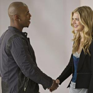 Still of Mehcad Brooks and Kate Miner in Necessary Roughness (2011)