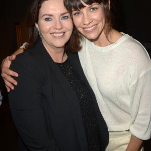 Philippa Boyens and Evangeline Lilly at event of Hobitas Penkiu armiju musis 2014