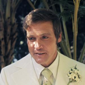 Lee Majors on his wedding day to Farrah Fawcett July 28 1973