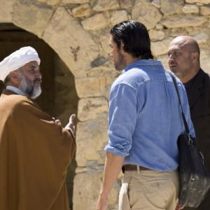 Still of Jim Caviezel David Diaan and Ali Pourtash in The Stoning of Soraya M 2008