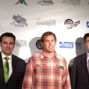 Prince Gharios @ red carpet of the Pepperdine/NDU film festival in Malibu with The Honorable Consul General of Lebanon Mr. Johnny Ibrahim (right) and Malibu city Councilman Skylar Peak (middle)
