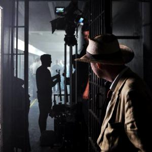 Tom Six on set of The Human Centipede 3