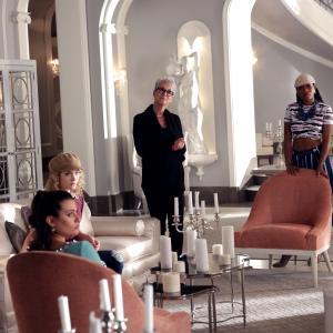 Still of Jamie Lee Curtis, Lea Michele, Skyler Samuels and Keke Palmer in Scream Queens (2015)