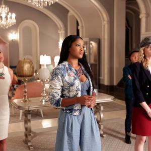 Still of Lea Michele, Skyler Samuels, Keke Palmer and Jeanna Han in Scream Queens (2015)