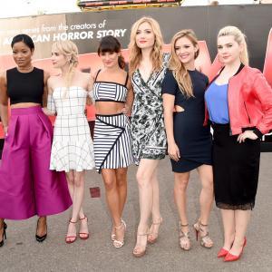Lea Michele, Emma Roberts, Abigail Breslin, Skyler Samuels, Keke Palmer and Billie Lourd at event of Scream Queens (2015)