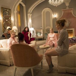 Still of Lea Michele, Emma Roberts, Abigail Breslin, Skyler Samuels, Keke Palmer, Breezy Eslin, Billie Lourd and Jeanna Han in Scream Queens (2015)