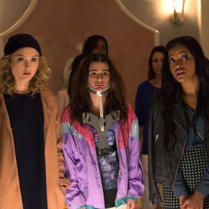 Still of Lea Michele, Skyler Samuels and Keke Palmer in Scream Queens (2015)