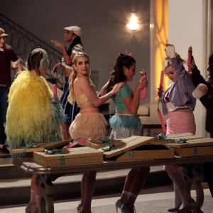 Still of Lea Michele, Emma Roberts, Abigail Breslin, Skyler Samuels, Keke Palmer, Breezy Eslin and Billie Lourd in Scream Queens (2015)
