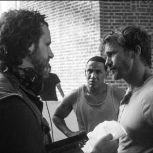 Rusty Joiner with Director Pat Necerato and actor Jeremiah DeMoss on the set of VOICELESS