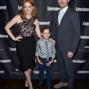 Scott Cooper, Jessica Chastain and Jacob Tremblay