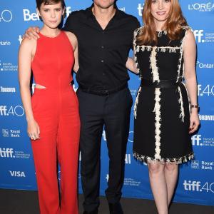 Matt Damon, Kate Mara and Jessica Chastain at event of Marsietis (2015)