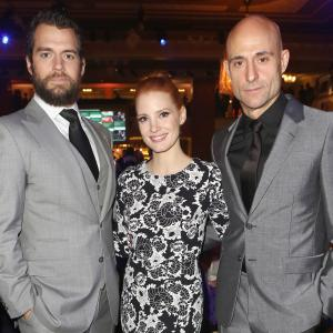 Henry Cavill, Mark Strong and Jessica Chastain