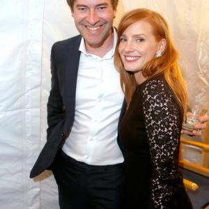 Mark Duplass and Jessica Chastain at event of 30th Annual Film Independent Spirit Awards (2015)