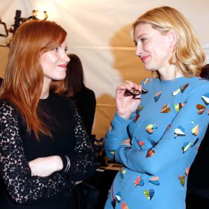 Cate Blanchett and Jessica Chastain at event of 30th Annual Film Independent Spirit Awards (2015)