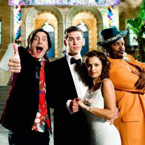 Still of Raquel Alessi, Craig Robinson, Zach Cregger and Trevor Moore in Miss March (2009)