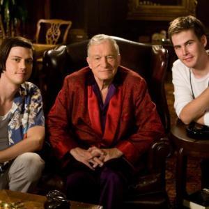 Still of Hugh M. Hefner, Zach Cregger and Trevor Moore in Miss March (2009)