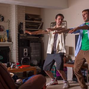 Still of Zach Cregger and Michael Stahl-David in The Bounceback (2013)