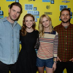 Ashley Bell, Sara Paxton, Zach Cregger and Michael Stahl-David at event of The Bounceback (2013)