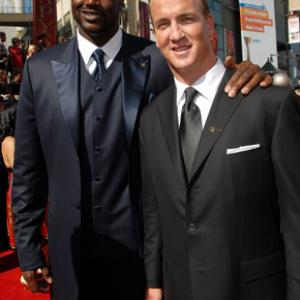 Shaquille O'Neal and Peyton Manning