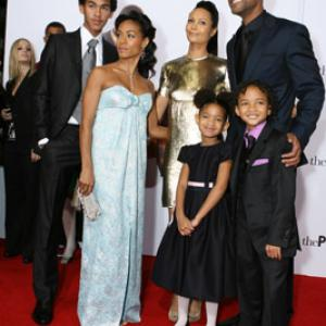 Will Smith, Jada Pinkett Smith, Thandie Newton, Jaden Smith, Trey Smith, Willow Smith