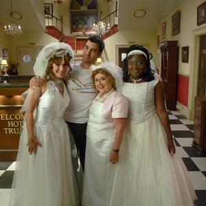 Tanya Franks, David Sant, Sheila Bernette, Susan Wokoma in Hotel Trubble