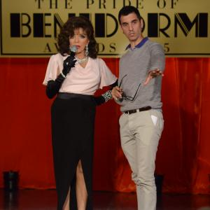 Still of Joan Collins and David Sant in Benidorm series 8