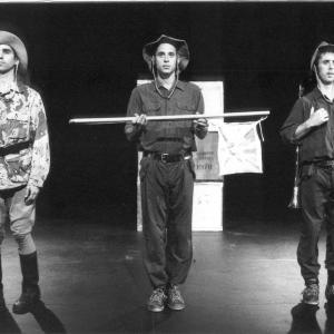 David Sant, Javier Marzan and John Nicholson in Let The Donkey Go
