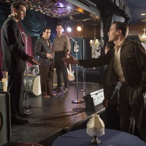 Still of John Lloyd Young Vincent Piazza Erich Bergen and Michael Lomenda in Ketveriuke is Dzersio 2014