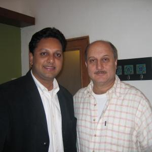 With actor Anupam Kher