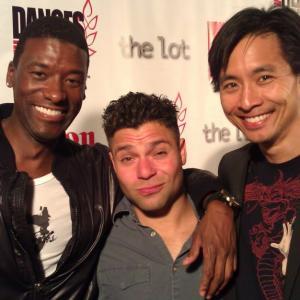 Moe Irvin (Grey's Anatomy), Jeremy Luke (Don Jon's Addiction), and Roy Vongtama at the Fuzz Track City Premiere 2012