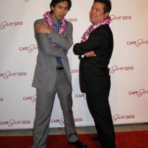Writer/Producer Mark Niu and Actor/Producer Roy Vongtama of Juche Rules at the Cape Soiree