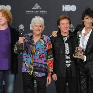 Mick Hucknall, Kenney Jones, Ian McLagan, Ron Wood
