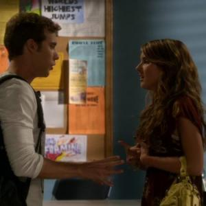 Still of Shenae Grimes-Beech and Dustin Milligan in 90210 (2008)