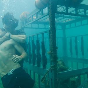 Still of Chris Carmack and Dustin Milligan in Shark Night 3D (2011)