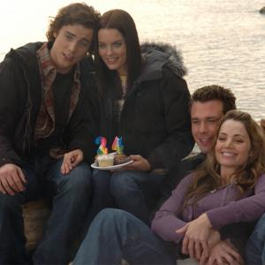 Still of Eric Lively, Gina Holden, Erica Durance and Dustin Milligan in The Butterfly Effect 2 (2006)