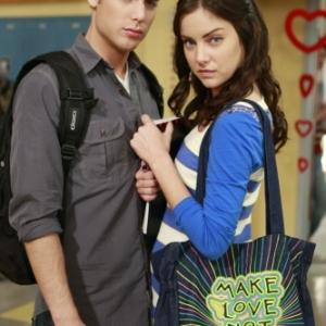 Still of Dustin Milligan and Jessica Stroup in 90210 (2008)