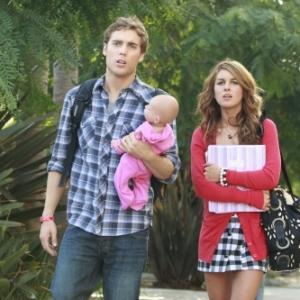 Still of Shenae GrimesBeech and Dustin Milligan in 90210 2008