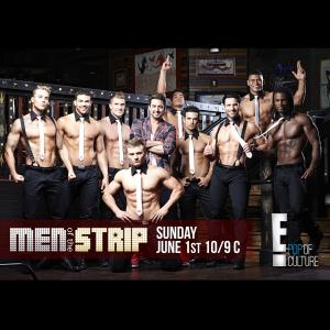 Glenn with his guys for his E! Network Movie Event Men of the Strip
